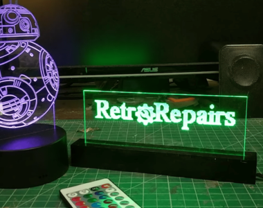 make a edge lit sign with K40